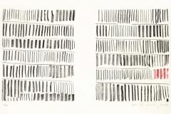 Strich-Menge-2010-Kreide-Lithographie-Aufl.-5-Stck.-Motivgroesse-je-16x20-cm-auf-Buettenkarton-42x30-cm-30