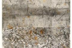 Reihe-o.T.-12.1.2011-Erdpigmente-und-Graphitkreide-auf-Papier-31x40-cm-mit-Passepartout-50x65-cm